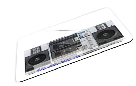 Rikki Knight Retro Boom Box Stereo Design Lightning Series Gaming Mouse Pad (MPSQ-RK-1751)