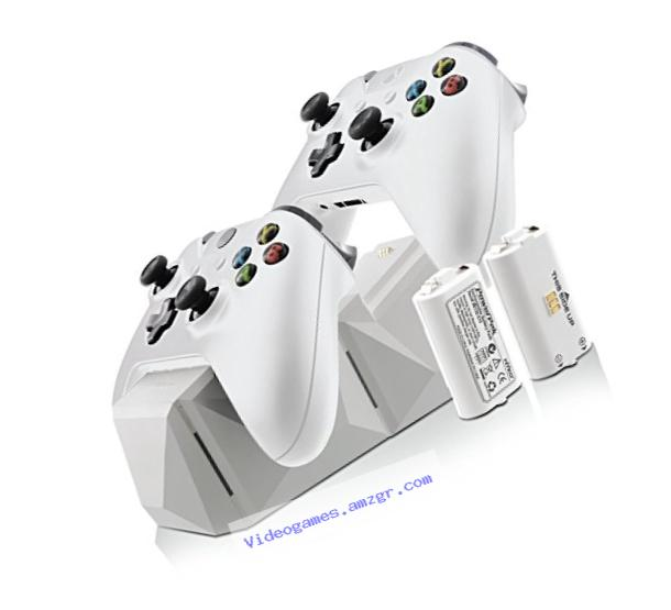 Nyko Charge Block Duo Battery Charger, White - Xbox One