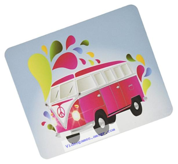 Rikki Knight Retro Pink Volkswagen with Splashes Design Lightning Series Gaming Mouse Pad (MPSQ-RK-44633)